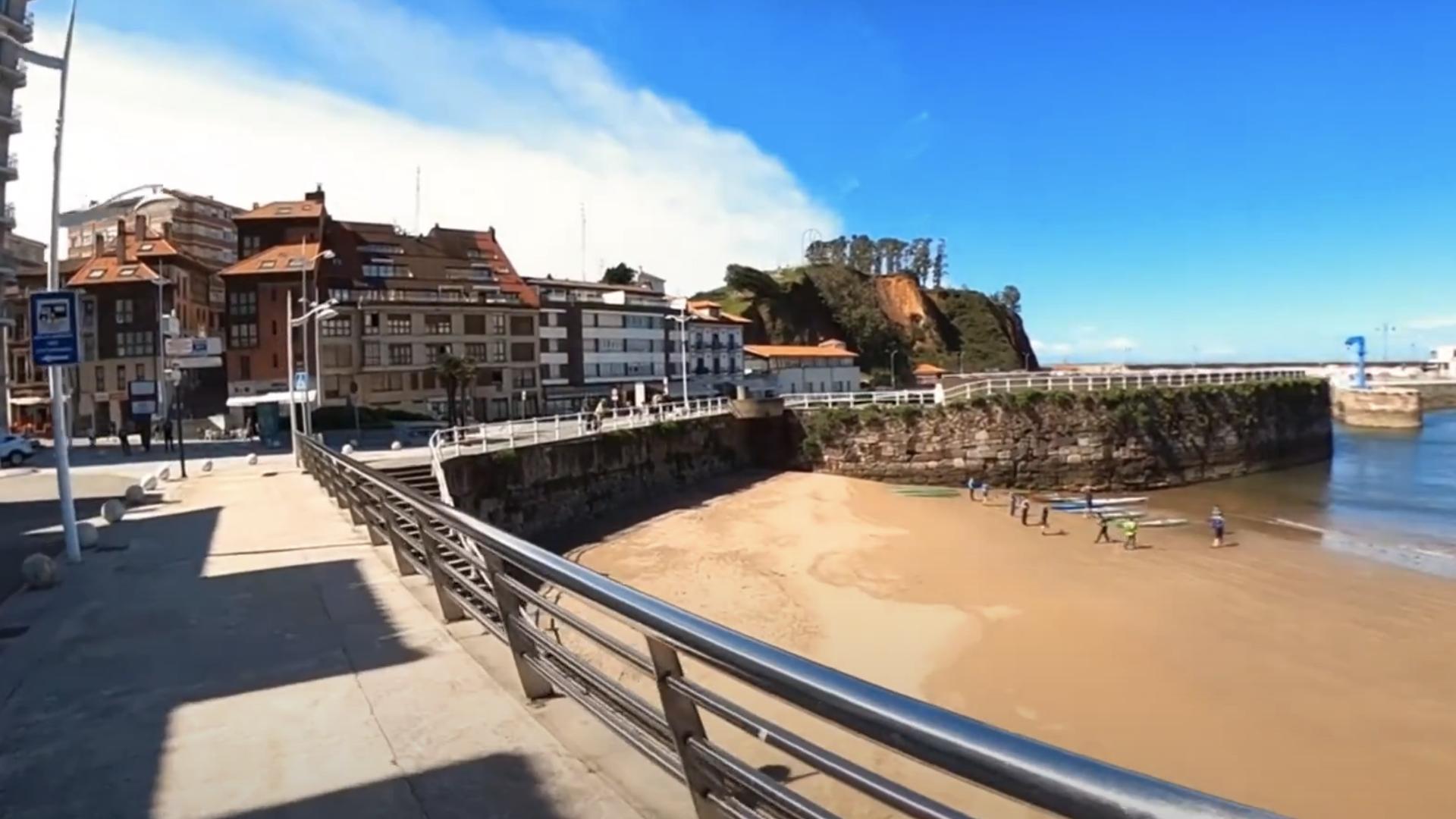 dron video asturias